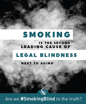 Smoking is the second leading cause of legal blindness next to aging.